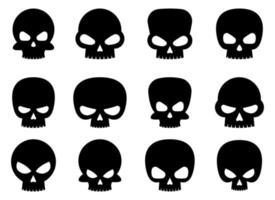 Skull set vector design illustration isolated on background