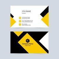 tarjeta de visita universal simple negra y amarilla vector