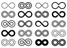 Infinity icon vector design illustration set isolated on white background