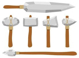 Ancient stone weapons vector design illustration isolated on white background