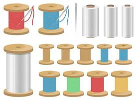 Thread spool vector design illustration isolated on white background
