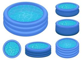 Inflatable pool vector design illustration isolated on white background