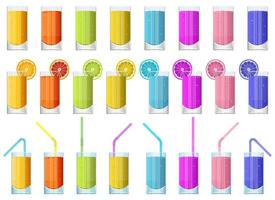Glass of fresh fruit juice vector design illustration isolated on white background