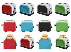 Bread toaster vector design illustration set isolated on white background