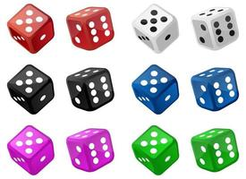 Set of casino dice vector design illustration isolated on white background