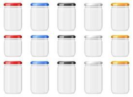 Ilustración de diseño de vector de frasco de vidrio vacío aislado sobre fondo blanco
