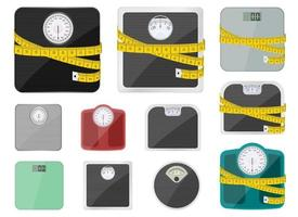 Bathroom weighing scale vector design illustration isolated on white background