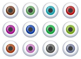 Eyeball vector design illustration set isolated on white background