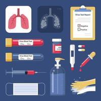 Prevent virus and medical equipment. health care. Vector Illustration