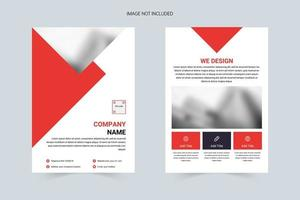 Atmospheric and simple DM flyer vector