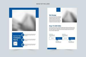 Blue, white and concise corporate flyer
