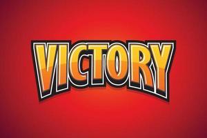 victoria, cartel de discurso. diseño de arte de texto. ilustración vectorial