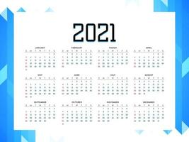 New Year Colorful Calendar 2021 Vector Design Editable Resizable EPS 10