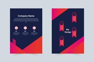 Gradient pink, purple company flyer template
