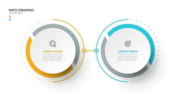 Vector info graphic design template with 2 options or steps.