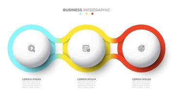 Vector template for info graphic. Business concept with 3 options, steps, icons.