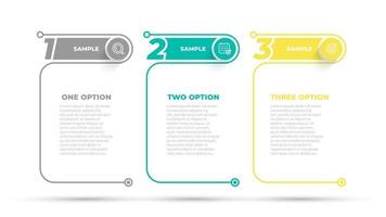 Business info graphic design number options template. Time line with 4 steps, options. Can be used for work flow diagram, info chart, web design. Vector illustration.