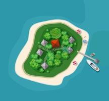 Island paradise view from above. vector