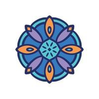Mandala icon design vector