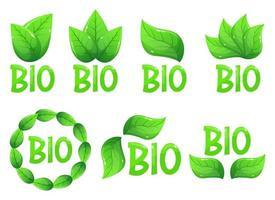 Bio emblem logo vector design illustration isolated on white background