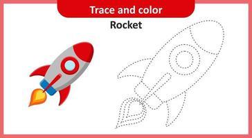 cohete de rastreo y color vector