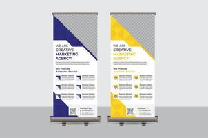 Abstract Colorful Roll up Banner Design Vector Template
