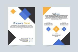 Blue, yellow company annual flyer template