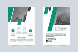 Simple green, gray company brochure template