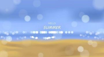 Beach and sea sunlight, summer holidays vector illustration