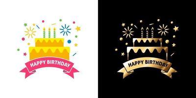 Happy Birthday Sticker Vector