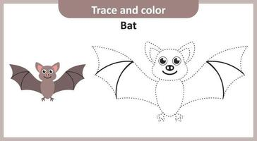 Trace and Color Bat vector