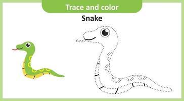 traza y color serpiente vector