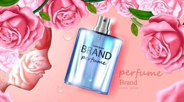 paquete de botella cosmética crema para el cuidado de la piel vector