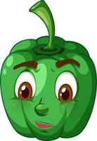 Capsicum cartoon character with facial expression