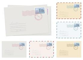 Ilustración de diseño de vector de sobre de correo aislado sobre fondo blanco