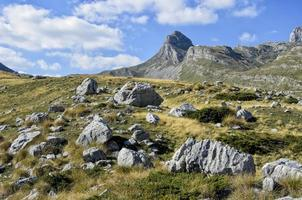 Montaña Durmitor en Montenegro foto
