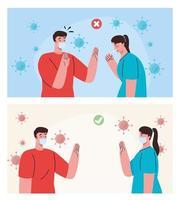 manual al distanciamiento social vector