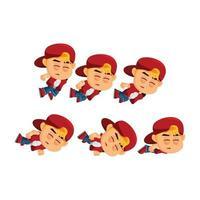 Boy Character Falling Set vector