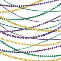 Mardi Gras beads vector background pattern