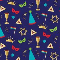 Purim holiday vector pattern