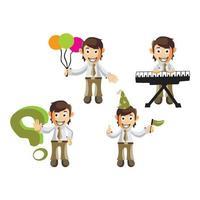 Business man cartoon character Set vector
