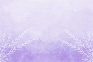Purple abstract watercolor background with white flowers vector