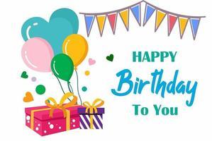 Happy Birthday typography vector design template for birthday celebration.