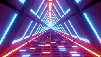 voo em túnel de luz neon de realidade virtual futurista video