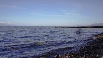 Naturlandschaft mit Blick auf den Baikalsee video