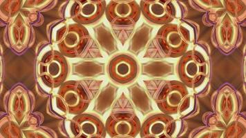fond abstrait kaléidoscope multicolore video