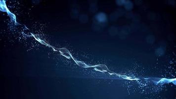 abstraktes Licht fließende Partikel Landschaft fx Hintergrundschleife video