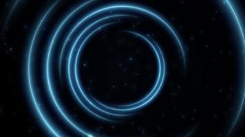 remolino azul de luz en el espacio profundo