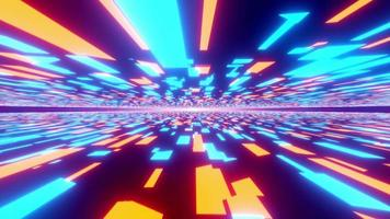 loop flight luzes neon movimento cyber vr túnel video