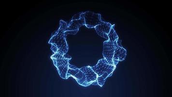 Fundo abstrato 3d fractal esfera de arame looping